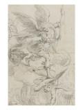 L'archange Saint Michel terrassant le dragon Giclee Print by Domenico Fiasella