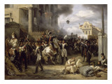 The Barriere De Clichy, Paris Defense March 30, 1814 Giclée-Druck von Horace Vernet