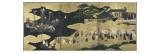 "Paravent de Namban Byobu dit ""des Portugais"" Giclee Print"