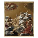 Saint Eustache et sa famille porté au ciel dit aussi L'Apothéose de saint E Giclée-Druck von Simon Vouet