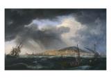 Port de Sète Giclée-Druck von Claude Joseph Vernet