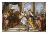 Salomon reçu par la reine de Saba Giclée-Druck von Nicolas Vleughels