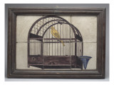 Six Squares Together Representing a Bird in a Cage Giclee Print