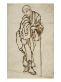 Autoportrait sous l'aspect d'un vieillard Giclée-Druck von Katsushika Hokusai