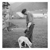 Berger et agneau Reproduction procédé giclée