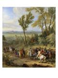 Prise de Leewe en Brabant par Louis XIV, 4 mai 1678 Giclée-Druck von der Meulen Adam Frans Van