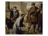 San Salvador De Horta, and the Inquisitor of Aragon Giclee Print by Bartolome Esteban Murillo