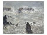 Tempête, côtes de Belle-île Giclee Print by Claude Monet