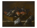 Nature morte aux poissons Giclee Print by Giuseppe Recco
