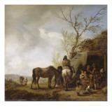 Halte de voyageurs Giclee Print by Philips Wouwerman