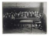 Scène du ghetto de Pologne. Heder, école juive Reproduction procédé giclée