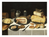 Nature morte au jambon Reproduction procédé giclée par Floris van Schooten