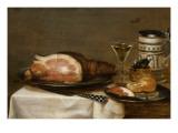 Nature morte au jambon Giclée-Druck von Jacob Fopsen Van Es