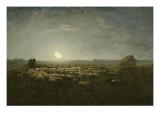 Parc outons, clair de lune Reproduction procédé giclée par Jean-François Millet