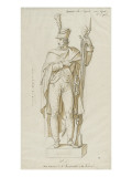 Statue of a Gunner of the First Regiment after Bridan Giclee Print by Charles Meynier