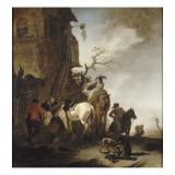 Halte de chasseurs et de cavaliers Giclee Print by Philips Wouwerman