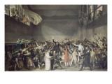 Le serment du jeu de Paume, le 20 juin 1789 Gicleetryck av Jacques-Louis David