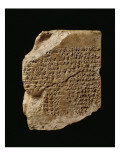 Tablet Bearing the Text of a Sumerian Creation Myth Giclee Print