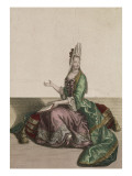 The Comtesse D'Olonne Sitting on a Caneau to Church Giclee Print