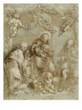 La Sainte Famille servie par les anges Giclee Print by Federico Barocci