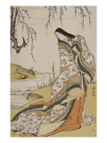 La po&#233;tesse Ono no Komachi Giclee Print by Torii Kiyonaga