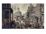 Le triumvirat romain Giclée-Druck von Hans Vredeman Vries