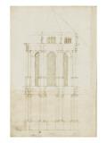 Projet de transformation du choeur de la cathédrale de Bamberg Giclée-Druck von Herman Vischer