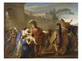 Les Adieux d'Hector et Andromaque Giclée-Druck von Joseph Marie Vien