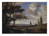 Les ruines de l&#39;abbaye d &#39;Egmont Gicl&#233;e-Druck von Salomon Van Ruysdael