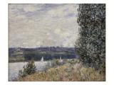 La Seine à la Bouille, coup de vent (1894) Reproduction procédé giclée par Alfred Sisley