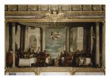 Le Repas chez Simon le Pharisien Giclée-Druck von Paolo Véronèse