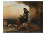 Sujet Grec moderne (Après le massacre de Samothrace) Reproduction procédé giclée par Auguste Jean-baptiste Vinchon