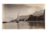 "Le bateau ""le Jura"" entrant dans le port d'Evian Gicléetryck av Alexandre-Gustave Eiffel"