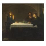 Les pèlerins d'Emmaüs Reproduction procédé giclée par Henry Ossawa Tanner