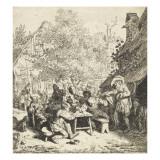 Le violon debout Giclée-Druck von Cornelis Dusart