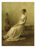 La Musicienne Gicléedruk van Thomas Wilmer Dewing