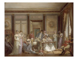 Les Loisirs de la Malmaison. Giclée-Druck von Jean Louis Victor Viger du Vigneau