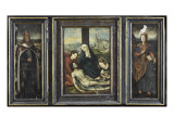 Triptych of the Lamentation over the Body of Christ Giclee Print
