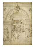 La Flagellation du Christ, à l'intérieur d'une architecture de palais vénitien Giclee Print by Jacopo Bellini