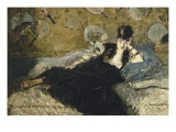 La dame aux éventails, Nina de Callias Giclee Print by Édouard Manet