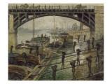 Les Déchargeurs de charbon Giclee Print by Claude Monet