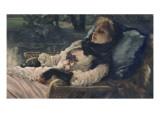 La rêveuse ou Soirée d'été Giclee Print by James Tissot