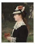 La dame aux coquelicots, Mme Marie Porcher, première femme de l'artiste Giclee Print by Alfred Roll