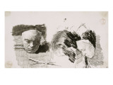 Le masque de Beethoven sur une table devant des livres Giclee Print by Mariano Fortuny y Marsal