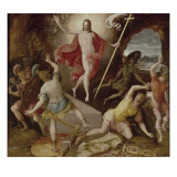 La r&#233;surrection du Christ Reproduction proc&#233;d&#233; gicl&#233;e par Antoine Caron
