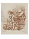 Deux jeunes apprentis cuisiniers Giclée-tryk af Pier Francesco Mola