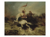 Turkish Horsemen, also known as the Flagship Turkish Giclee Print by Alexandre Gabriel Decamps