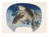 Deux carpes Giclee Print by Katsushika Hokusai