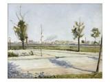 La Route de Gennevilliers : faubourg de Paris Giclee Print by Paul Signac