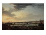 Troisième vue de Toulon, vue du vieux port, prise du côté des magasins au vivres Giclée-Druck von Claude Joseph Vernet
